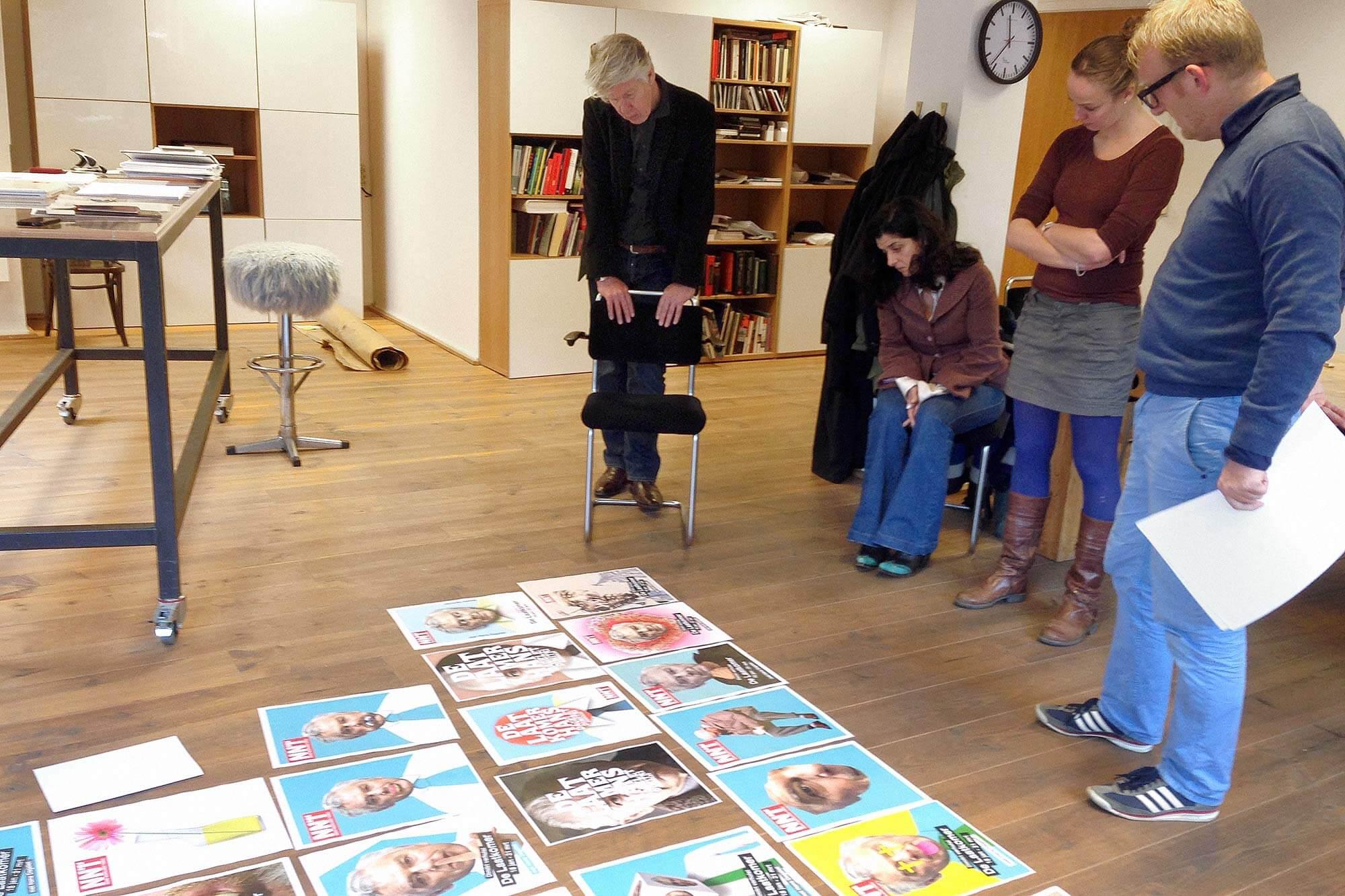 Campagne NNT De Laatkomer schetsproces