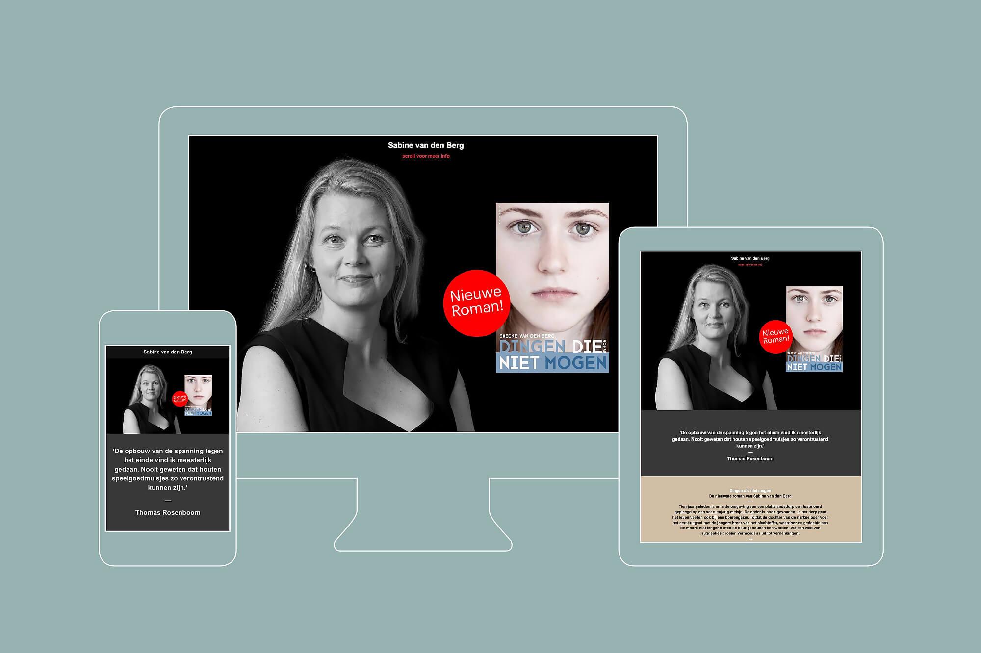 Design Website Sabine van den Berg